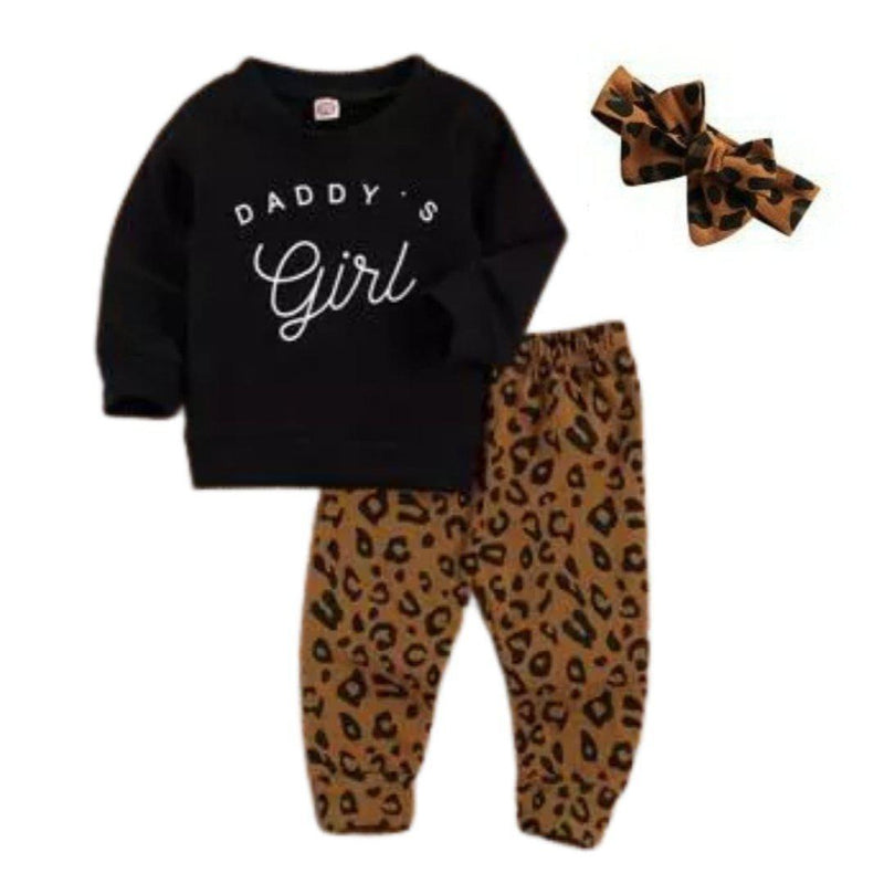 Daddy's Girl Set - Black