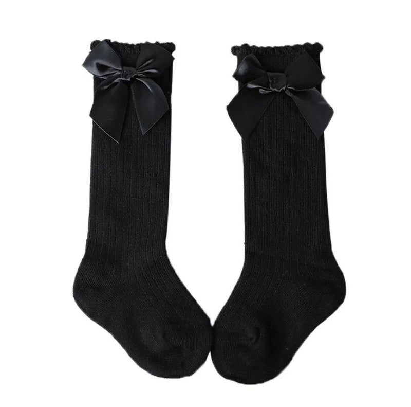 Bow Socks - Black