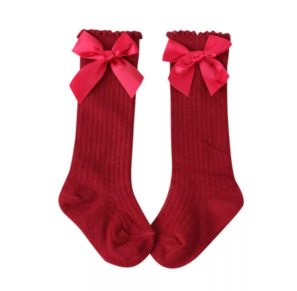 Bow Socks - Red