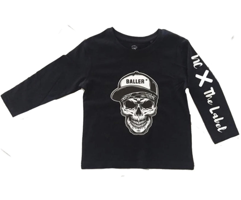 NC X The Label - Skull Baller Tee