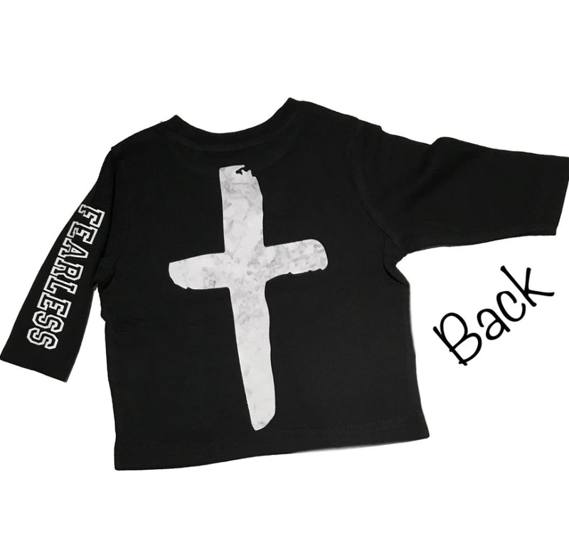 NC X The Label - Marble Cross Back Fearless Tee