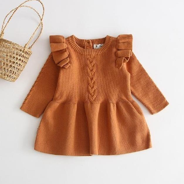 Willow Winter Dress - Burnt Orange