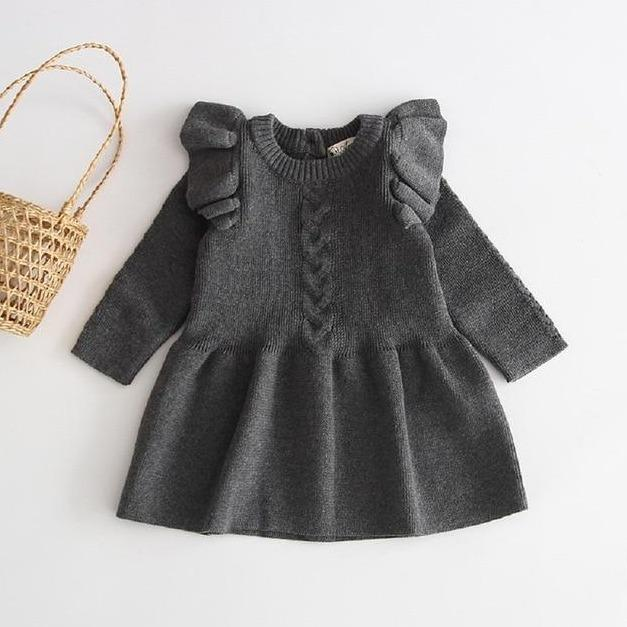 Willow Winter Dress - Grey