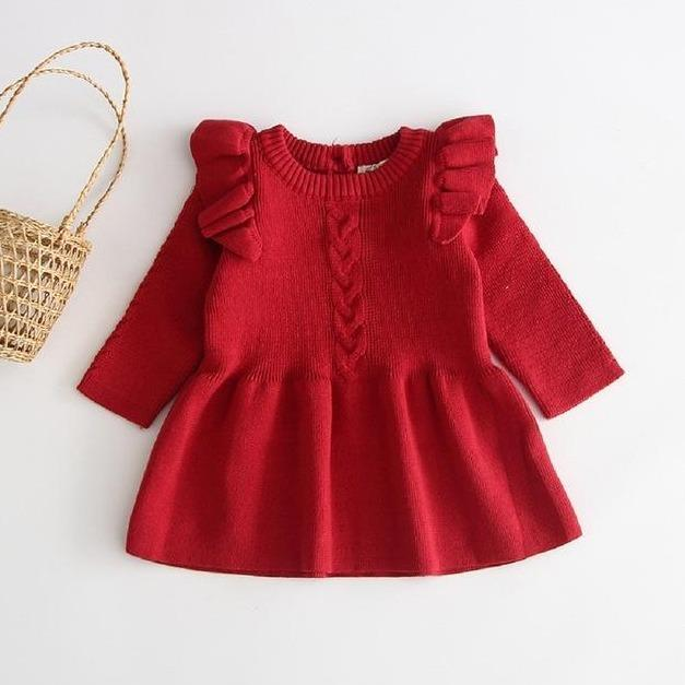 Willow Winter Dress - Red