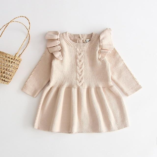 Willow Winter Dress - Cream
