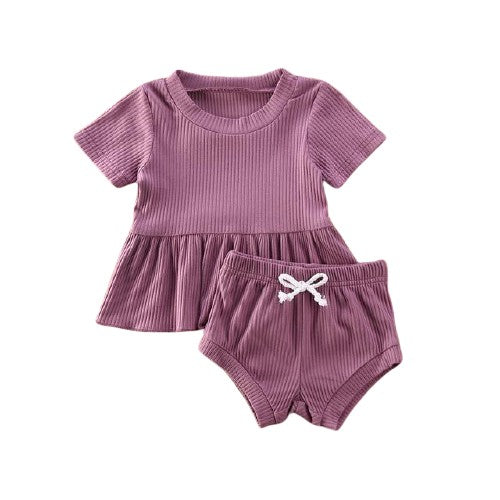 Dimity Ribbed Basics Set - Purple