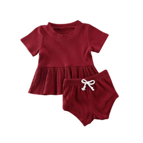 Dimity Ribbed Basics Set - Red