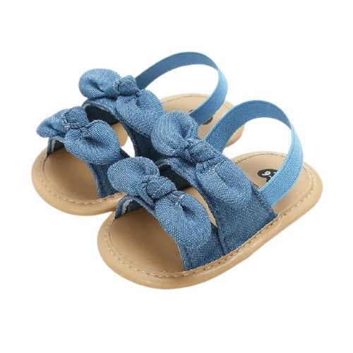 Esther Sandals - Denim Bows