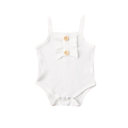 Sally Basic Bodysuit - White