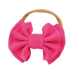 Aria Bow Headband - Pink