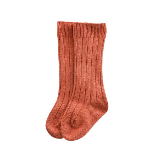 Knee High Socks - Rust Orange