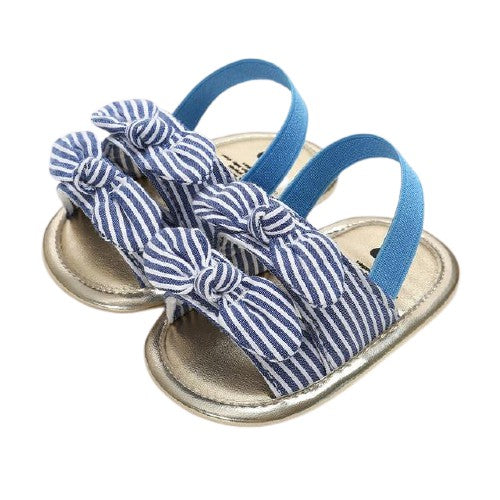 Esther Sandals - Stripe Bows