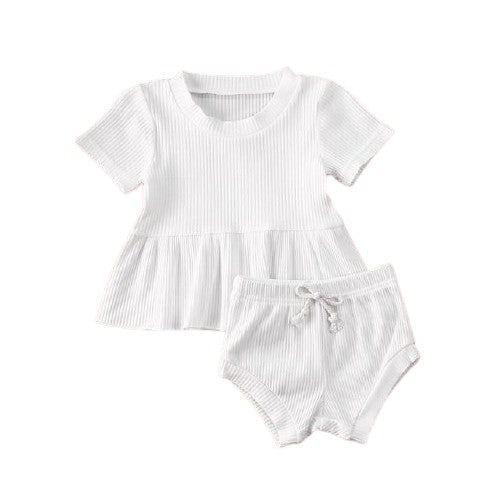 Dimity Ribbed Basics Set - White
