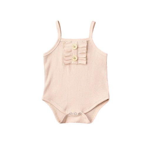 Sally Basic Bodysuit - Beige