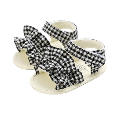 Esther Sandals - Chequered Ruffle
