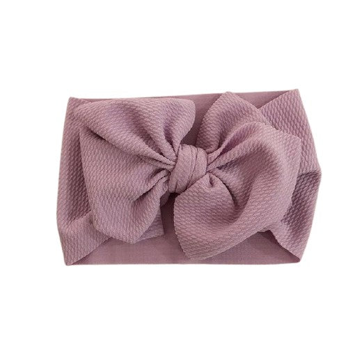 Big Bow Wrap Headband - Purple