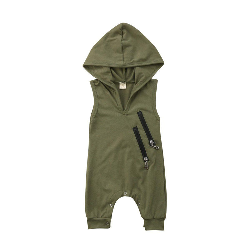 Zip Onesie - Army Green