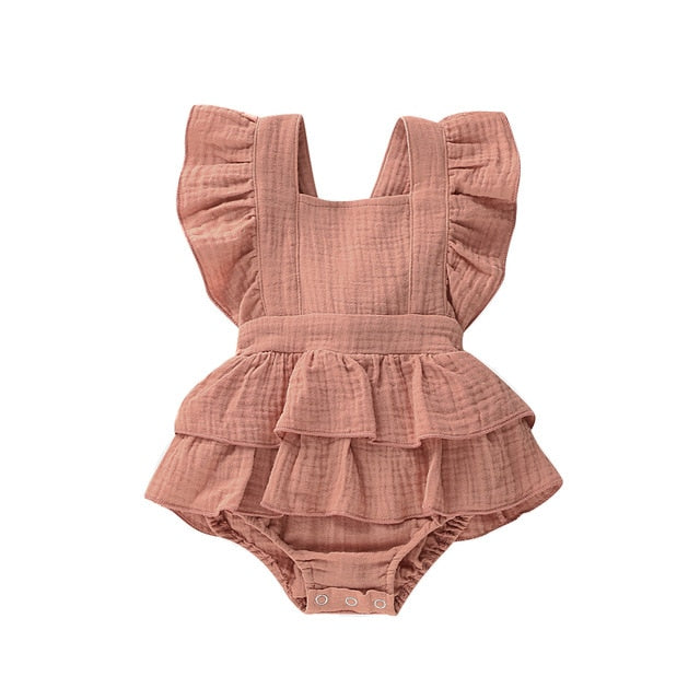 Luna Romper - Dusty Peach