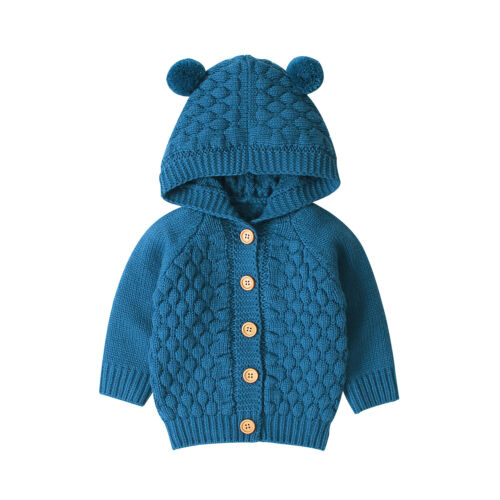 Baby Bear Cardigan - Blue