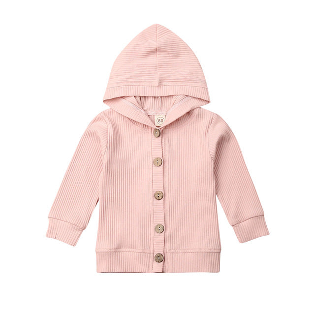 Basics Button Jacket - Pink
