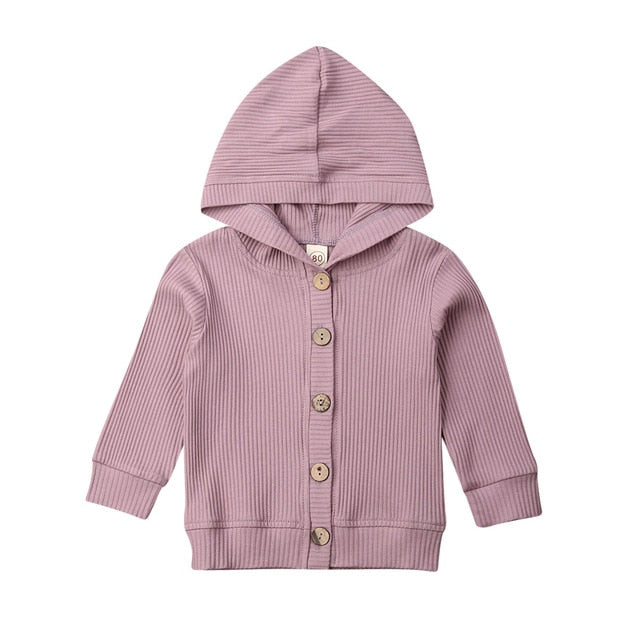 Basics Button Jacket - Purple
