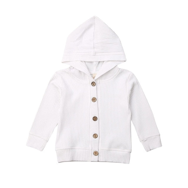 Basics Button Jacket - White