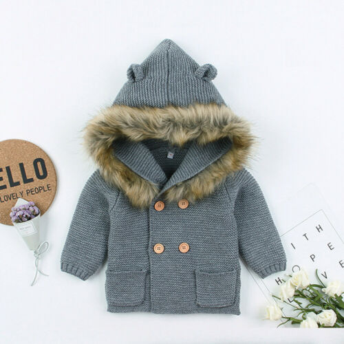 Faux Fur Winter Jacket - Grey
