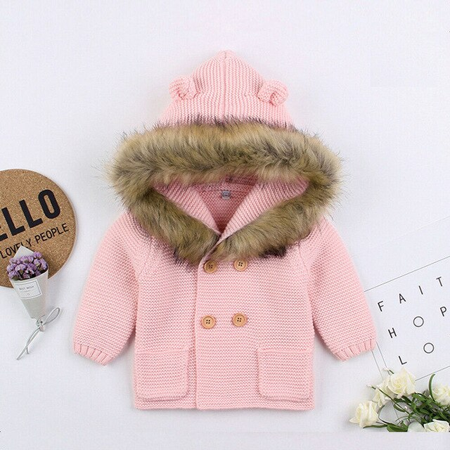 Faux Fur Winter Jacket - Pink