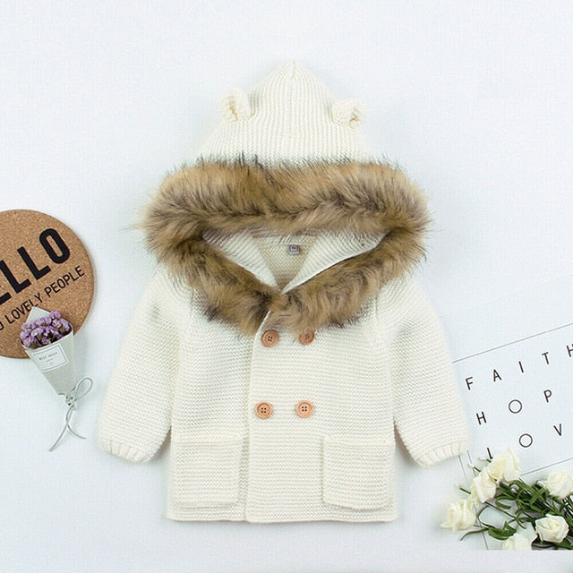 Faux Fur Winter Jacket - Cream