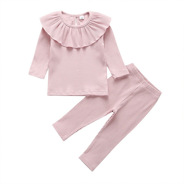 Layla Ribbed Basic Set - Pink