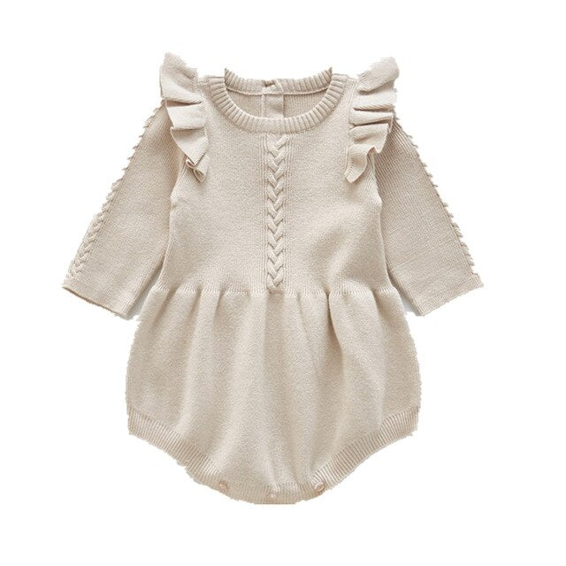 Mia Knit Romper - Cream