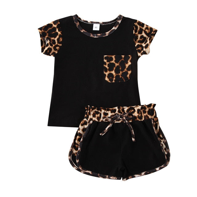Elsa Leopard Set - Black