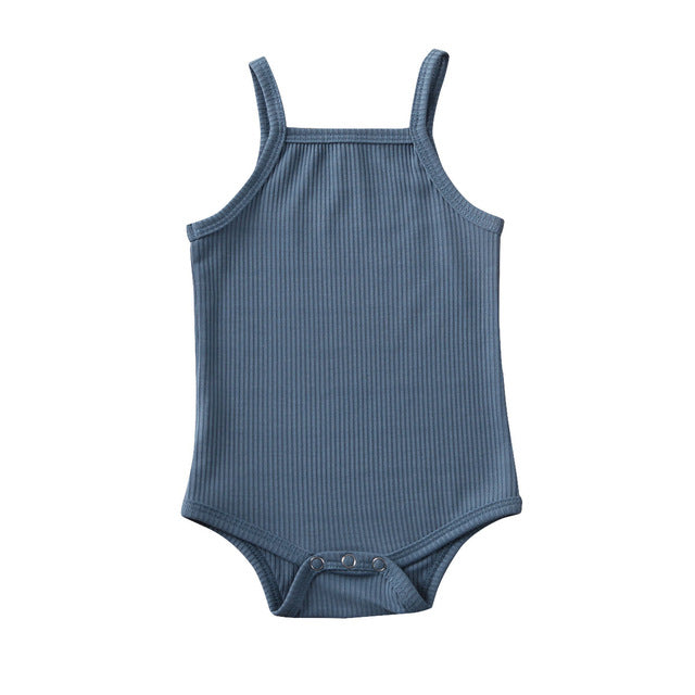 Basics Singlet Bodysuit - Dusty Blue