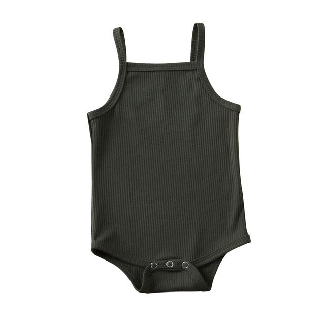 Basics Singlet Bodysuit - Dark Green