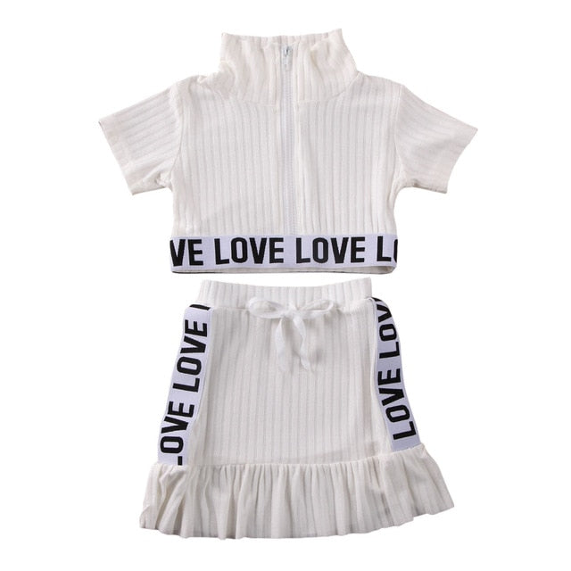 Urban Love Skirt Set - White