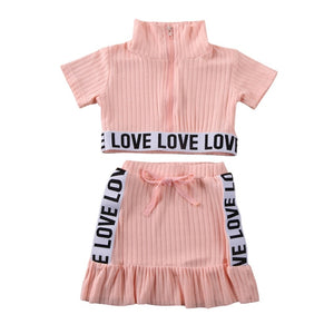 Urban Love Skirt Set - Pink