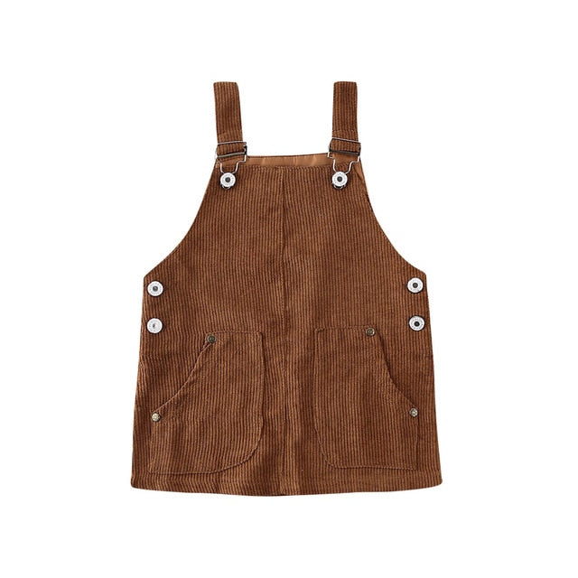 Sienna Pinafore Dress - Brown