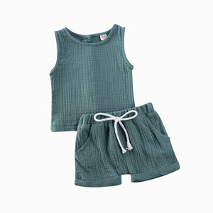 Basics Crushed Cotton Set - Green