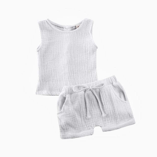 Basics Crushed Cotton Set - White