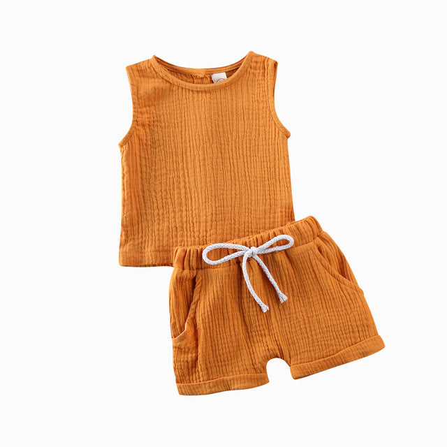 Basics Crushed Cotton Set - Orange