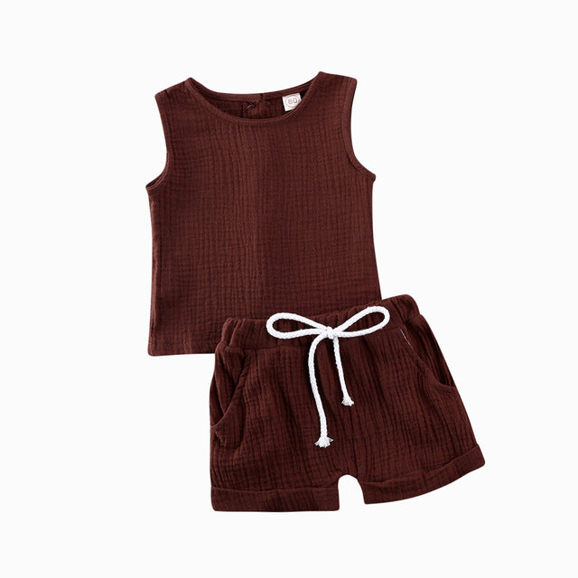 Basics Crushed Cotton Set - Brown