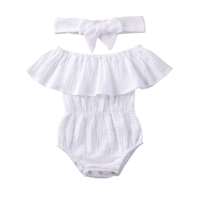 Lillie Romper - White