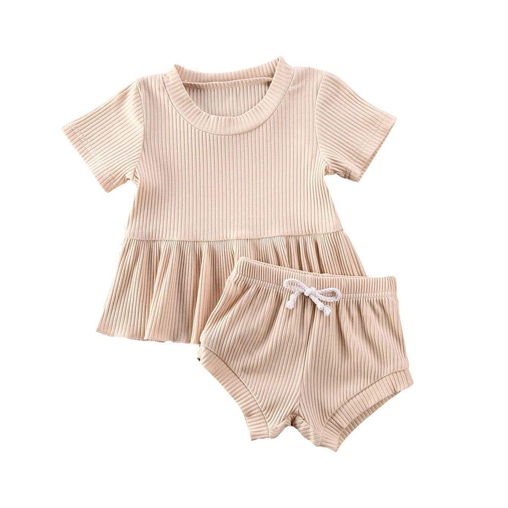 Dimity Ribbed Basics Set - Beige