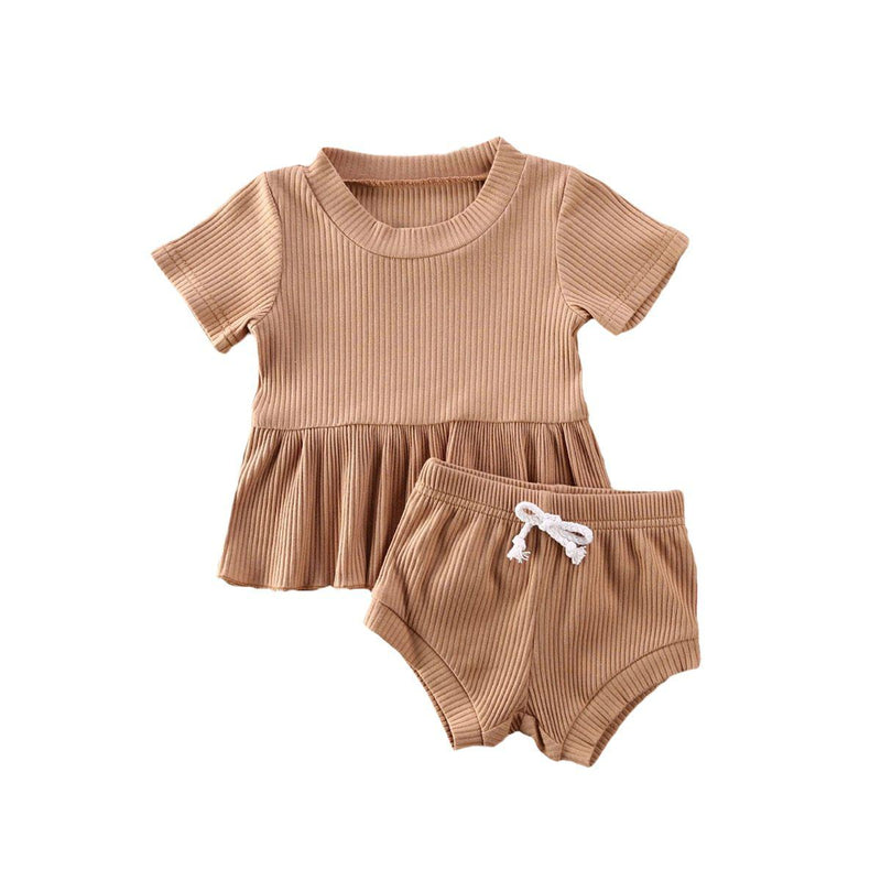 Dimity Ribbed Basics Set - Brown