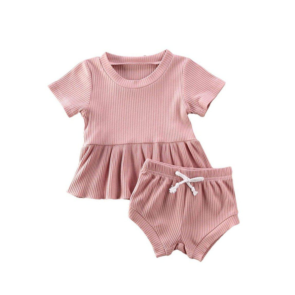 Dimity Ribbed Basics Set - Pink