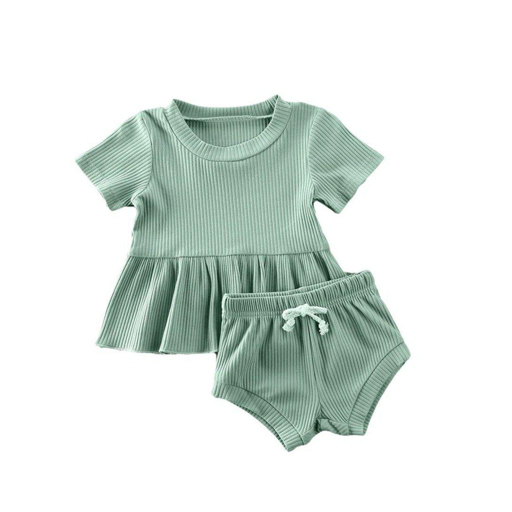 Dimity Ribbed Basics Set - Green