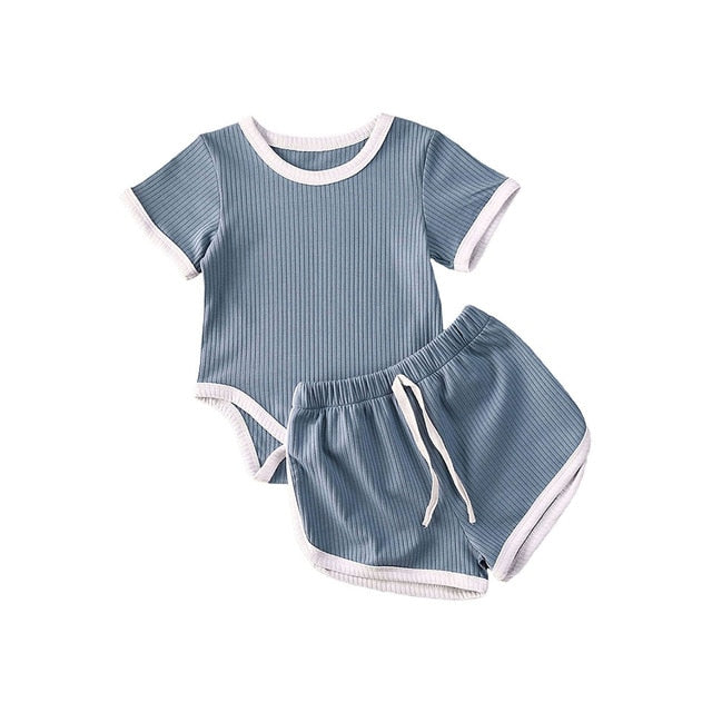 Basics Bodysuit Set - Blue