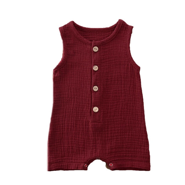 Crushed Cotton Onesie - Wine