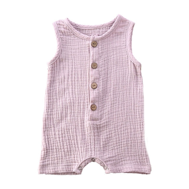 Crushed Cotton Onesie - Purple