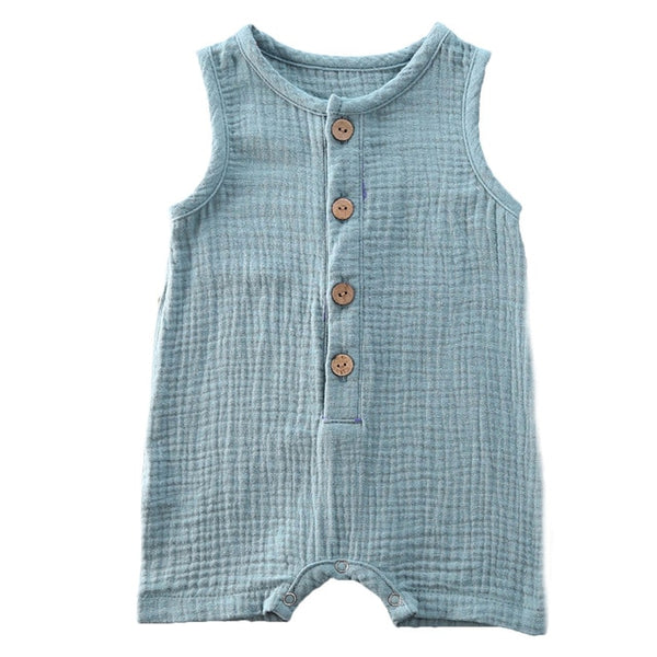 Crushed Cotton Onesie - Teal